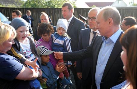 Рабочая поездка Владимира Путина в Удмуртию.