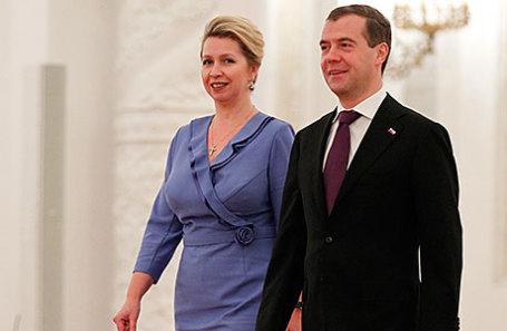 Премьер-министр РФ Дмитрий Медведев с супругой Светланой.