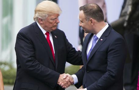 Президент США Дональд Трамп и глава Польши Анджей Дуда.