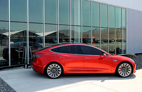 Прототип Tesla Model 3