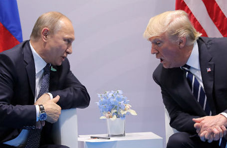 Встреча Владимира Путина и Дональда Трампа на саммите G20 в Гамбурге.