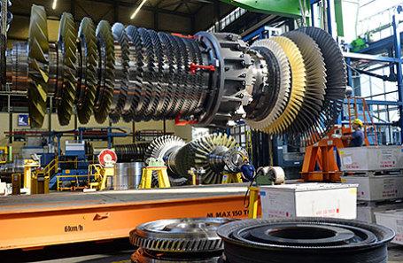 Работа газотурбинного завода Siemens AG в Берлине.