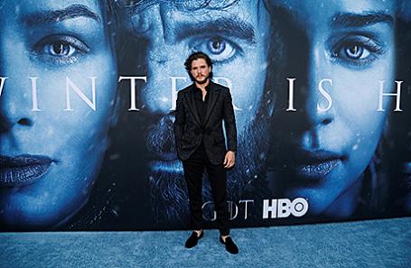 Актер Кит Харрингтон на премьере 7 сезона сериала «Игра престолов» в Лос-Анджелесе.