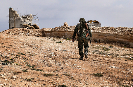 На сирийско-турецкой границе.