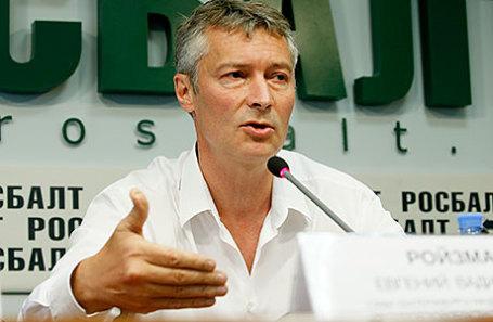 Мэр Екатеринбурга Евгений Ройзман во время пресс-конференции, посвященной выборам губернатора Свердловской области.