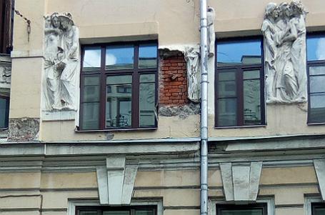 Состены «Дома списателями» в столицеРФ рухнул Гоголь