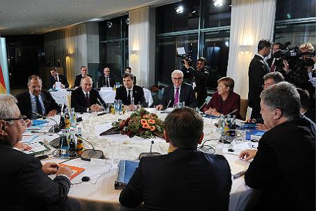 Переговоры лидеров «нормандской четверки».