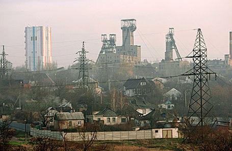 Вид на Донецк.