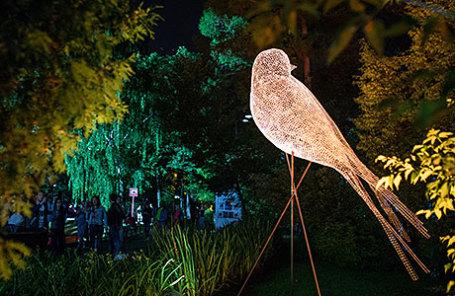 Во время III ежегодного фестиваля искусств «Вдохновение» в парке «Останкино».