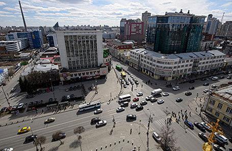 Вид на Екатеринбург.
