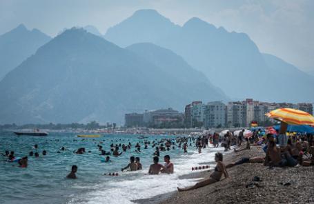 Пляжный отдых в турецкой Анталье.