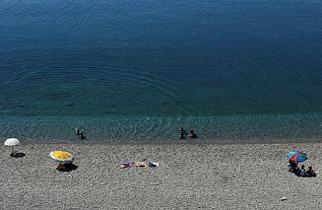 Пляж в Анталье.