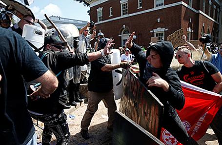 Протесты в Шарлоттсвилле, Вирджиния, США.