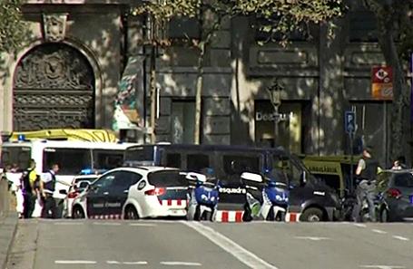 На месте происшествия в Барселоне.