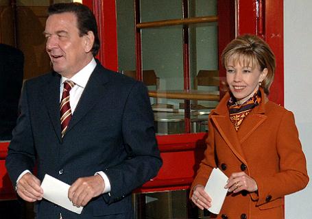 Герхард Шредар с женой.