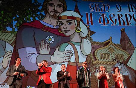 На премьере анимационного фильма «Сказ о Петре и Февронии» в кинотеатре «Каро 11 Октябрь».