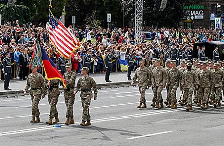Парад в честь Дня независимости в Киеве, Украина, 24 августа 2017.