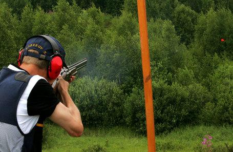 Во время чемпионата мира по стендовой стрельбе в комплексе «Лисья Нора».