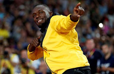 Ямайский легкоатлет Усэйн Болт.