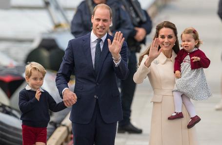 Принц Уильям и герцогиня Кембриджская Кэтрин с детьми