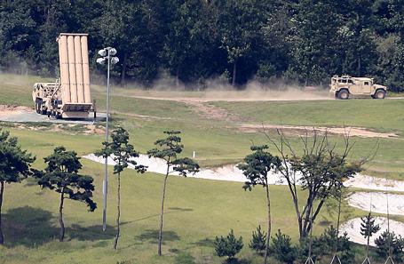 Ракетный комплекс THAAD в Сонджу, Южная Корея.