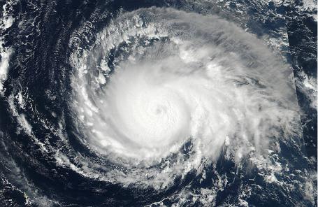 Ураган «Ирма» из космоса.