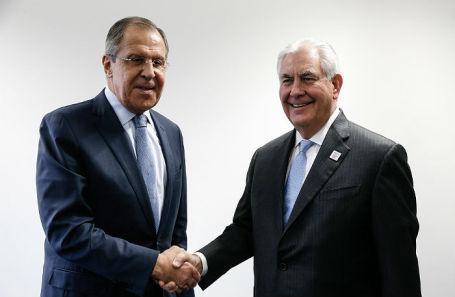 Министр иностранных дел РФ Сергей Лавров и государственный секретарь США Рекс Тиллерсон.
