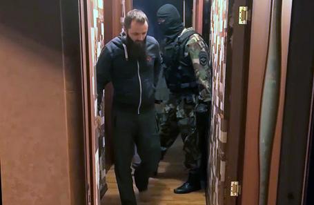 Задержание Александра Калинина.
