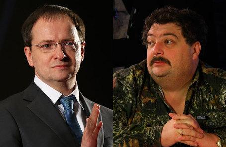 Министр культуры РФ Владимир Мединский и поэт Дмитрий Быков (слева направо).