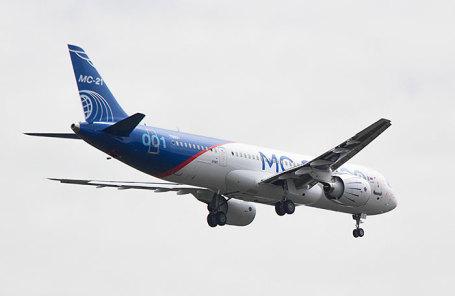 Новый российский пассажирский самолет МС-21-300.