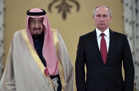 Король Саудовской Аравии Салман и президент России Владимир Путин.