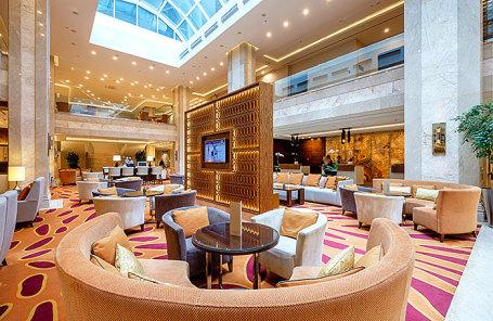 Холл отеля Marriott Hotel Novy Arbat.