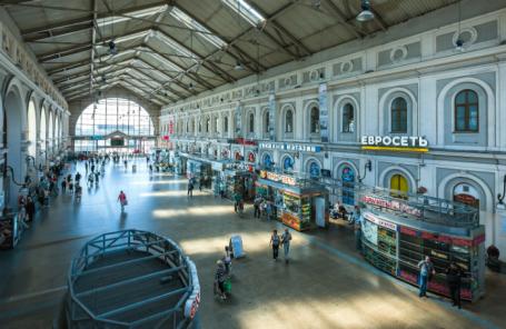 Балтийский вокзал в Санкт-Петербурге.