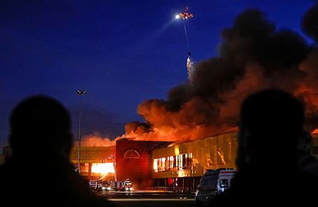 Пожар на строительном рынке «Синдика».