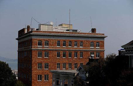 Здание российского посольства в США.