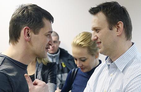 Олег и Алексей Навальные (слева направо).