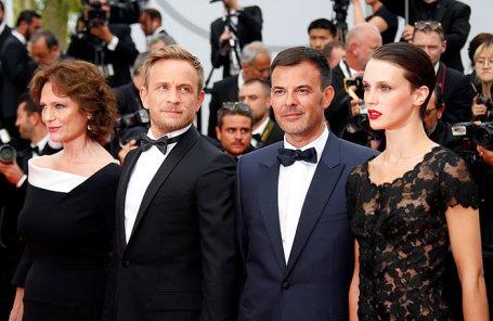 Актеры фильма «Двуличный любовник» в Каннах.