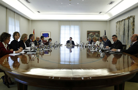 Экстренное заседание правительства Испании в Мадриде, 21 октября 2017.