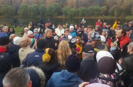 Митинг в парке Покровское-Стрешнево 21 октября 2017.