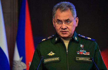 Министр обороны Сергей Шойгу на расширенном заседании коллегии Министерства обороны.