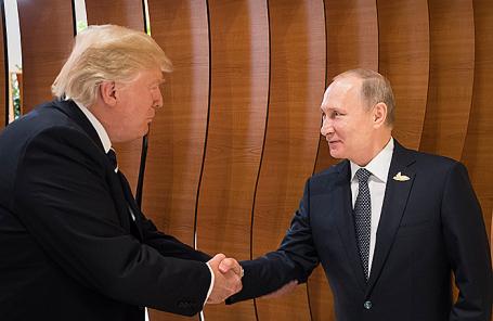 Президент США Дональд Трамп и президент России Владимир Путин.