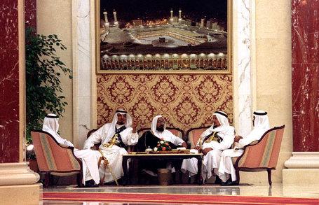 Общий вид в королевском дворце Дар ас-Салям в Джидде.