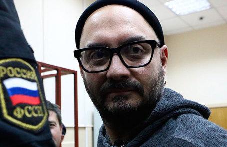 Режиссер Кирилл Серебренников, обвиняемый в мошенничестве в особо крупном размере, в Басманном суде.