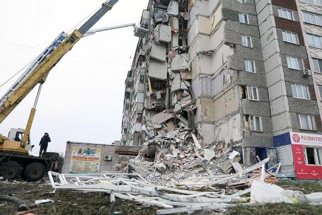 Ситуация в Ижевске после обрушения части жилого дома.