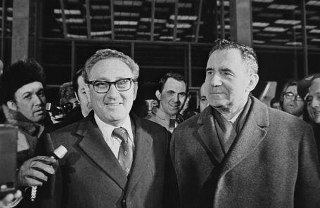 Генри Киссинджер (слева) и Андрей Громыко.