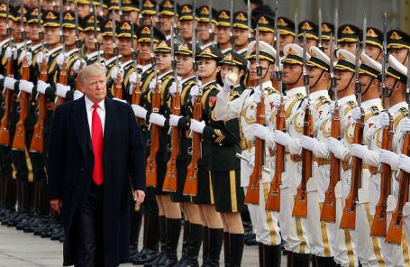 Дональд Трамп на приветственной церемонии в Пекине.