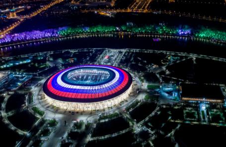Вид на стадион «Лужники».