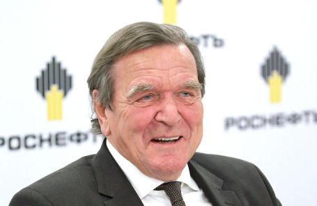 Бывший канцлер Германии, действующий глава совета директоров «Роснефти» Герхард Шредер.