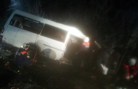 Аварийно-спасательные работы на месте ДТП в Республике Марий Эл