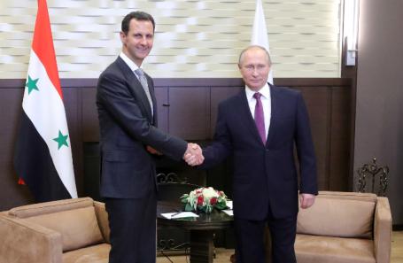 Башар Асад и Владимир Путин.